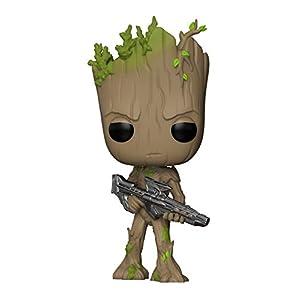 Funko Pop Marvel: Avengers Infinity War-Teen Groot with Gun Collectible Figure, Multicolor
