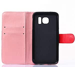 Calans Samsung Galaxy S6 Smile Wallet Leather Case Cover With Screen Protector