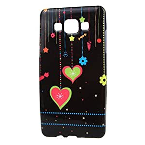 Para Galaxy A7 SM-A700F , ivencase Corazón and Star Flexible Patrón Suave Skin TPU Slim Bling Protector Back Perfecto Fit Funda Carcasa Tapa Case Cover Para Samsung Galaxy A7 SM-A700F