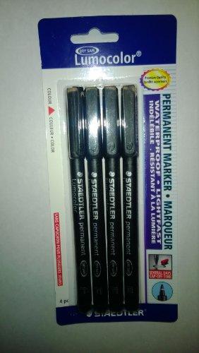 Staedtler Lumocolor Permanent Pen 318-9 Fine 0.6mm Line - Black (Pack of ()