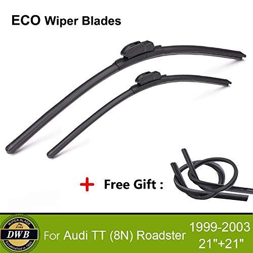 Wipers 2Pcs ECO Wiper Blades for Audi TT (8N) Roadster 1999-2003 21
