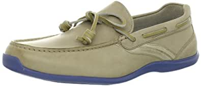 Rockport Men's Drivesports Lite One Eye Slip-On,Taupe,6.5 W US