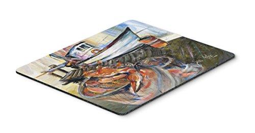 - Caroline's Treasures JMK1104MP Blue Crab Trap Mouse Pad, Hot Pad or Trivet, Large, Multicolor