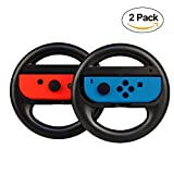 Set of 2 Joy-Con Racing Steering Wheel for Nintendo Switch Controller Mario Kart