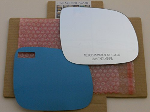 Audi Mirror Glass (New Replacement Mirror Glass with FULL SIZE ADHESIVE for AUDI Q5 Q7 Passenger Side View Right RH)
