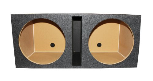 Q Power Dual 15-Inch Vented Unloaded Box (Q Power 15 Subwoofer Box)