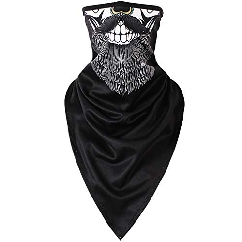 Iusun Balaclava Windproof Winter Ski Mask 3D Printing Cold Weather Face Mask Motorcycle Neck Warmer for Running Cycling Skiing Outdoor Sports Men & Women Unisex Seamless (B) -