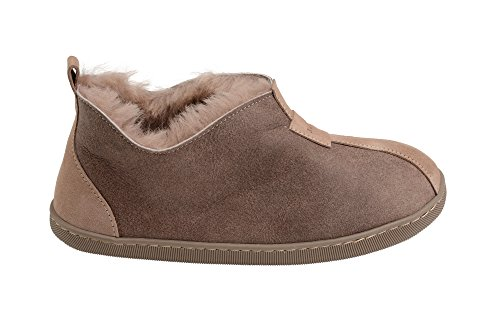 a16b1944a Rusnak Womens Luxury Fully Wool Lined Genuine Sheepskin Ankle Boots House  Slippers