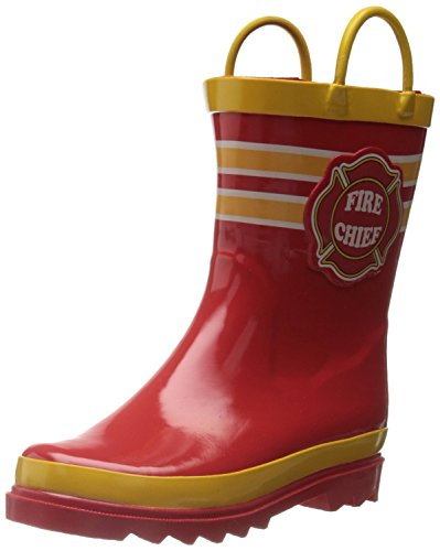 youth red rain boots - 1