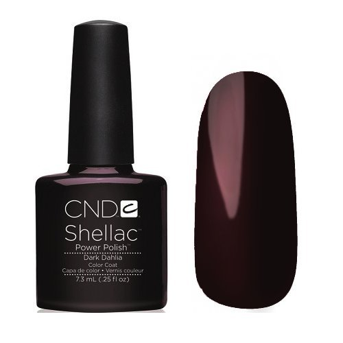 CND Shellac UV Gel Soak Off Nail Polish Choose From 89 Colours Inc All the Collections & The New Garden Muse Collection(Allthingsbountiful) (DARK DAHLIA (FORBIDDEN FALL COLLECTION)) by CND Shellac