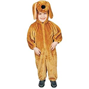 Dress Up America Children Sensational Plush Brown Puppy Costume - Small 4-6