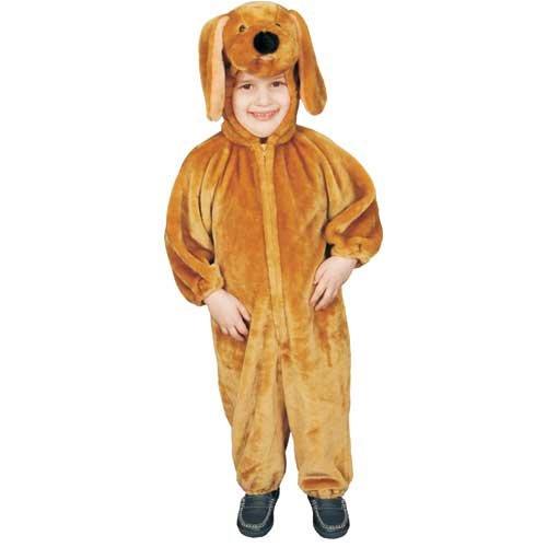 Dress Up America Children Sensational Plush Brown Puppy Costume - Small 4-6 -