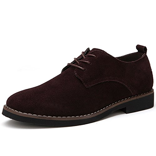 Plus Size 38-48 Oxford Men Shoes PU Suede Leather Spring Autumn Casual Brown 12.5