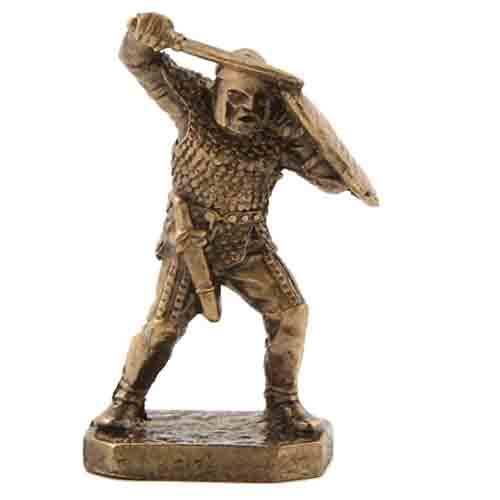 CTOC Warrior with sword and shield Bronze Statuette Scythians series Handmade military historical miniature 40 mm Collection figurine metal toy Soldier pub93 ()