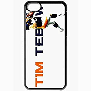 Personalized iPhone 5C Cell phone Case/Cover Skin 14587 tebow wp 17 sm Black