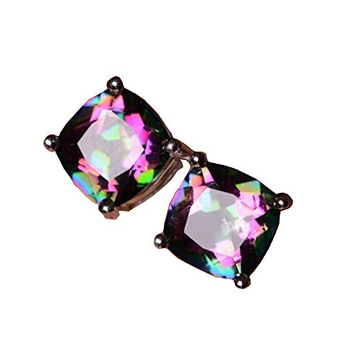 - Beiswe 1 Pair Hypoallergenic Piercing Earring Elegant Multicolor Rhinestone Stud Earring for Girls Student Charm Jewelry Gift (Style 1)