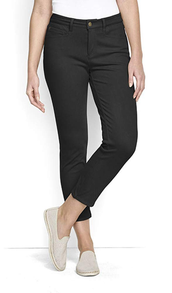 Orvis Women's Concord Cropped Jeans, Black, 8 by Orvis
