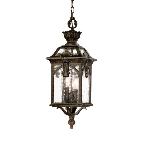 Acclaim 7116BC Belmont Collection 3-Light Outdoor Light Fixture Hanging Lantern, Black (Collection Outdoor Hanging Lamp)