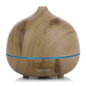 Amazon.com: BESTEK 300ml Wood Grain Essential Oil Diffuser
