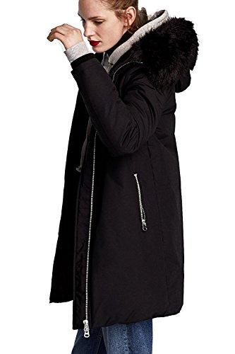 Size Jacket Winter Snow Women's Vieliring Plus Hooded 33black Long Outwear Big Collar Fur Parka Coat xX1AXIfwOq