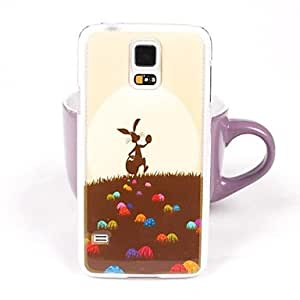 PEACH- Cute RaPEACH-it Pattern PC Back Case for Samsung S5/I9600