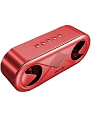 AAHDS Wireless Bluetooth Speaker High Volume Home Phone Overweight Subwoofer 3D Surround Small Portable Outdoor Speaker Bass Diaphragm (Color : Red)