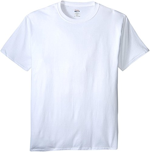 Hanes Men's Beefy-T Crewneck Short-Sleeve T-Shirt, White - 3X Tall (Beefy Blank Hanes T T-shirts)