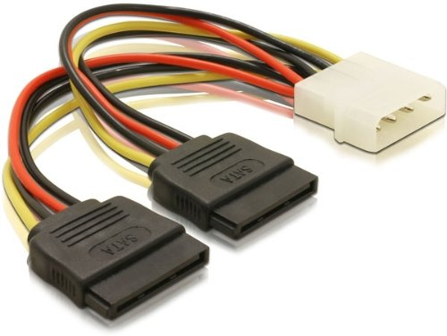 4 opinioni per DeLOCK Cable Power SATA HDD 2x > 4pin male- cable interface/gender adapters (2x