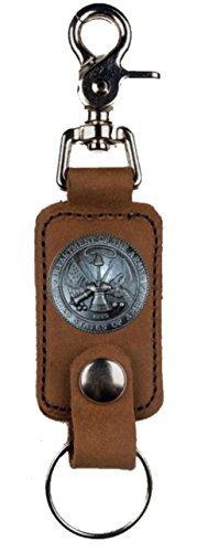 Custom U S Army Mascorro Leather Valet Key Fob - Army Key Fob Leather