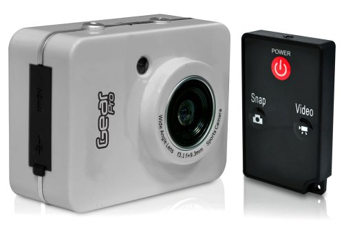 Gear Pro HD 1080p Action Cam - Hi-Res Digital Camera/Camcorder with Full HD Video, 12.0 Mega Pixel Camera, 2.4'' Touch Screen - Gear Action