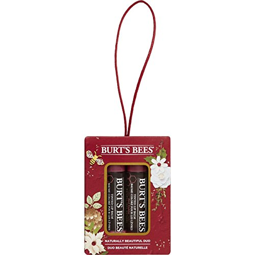 (Burt's Bees Naturally Beautiful Duo Gift Set, 2 Tinted Lip Balms in Gift Box - Red Dahlia and Hibiscus)