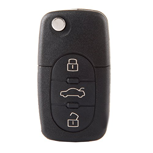 ECCPP Replacement fit for Uncut Keyless Entry Remote Control Car Key Fob Shell Case A4 Quattro/ A6 Quattro/ A8 Quattro/Allroad Quattro/TT Quattro MYT8Z0837231 (Pack of 1)