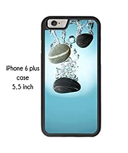 Beautiful Cobblestones Pebbles Pattern iPhone 6 Plus 5.5 Inch Plastic and TPU Durable Phone Case Cover(Laser Technology)