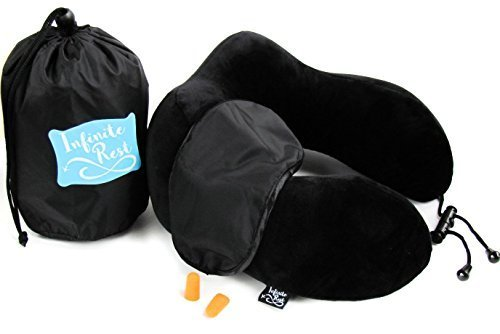 Travel pillow set - Memory Foam Adjustable Toggle Neck Pillow Set. Includes: Travel Pillow, Eye Mask, Ear Plugs, and Travel Bag for Airplane and Car Travel (Medium) (Target Easter Pillows)