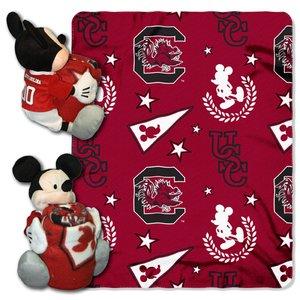 (The Northwest Company Officially Licensed NCAA South Carolina Gamecocks Co Disney's Mickey Hugger and Fleece Throw Blanket Set)