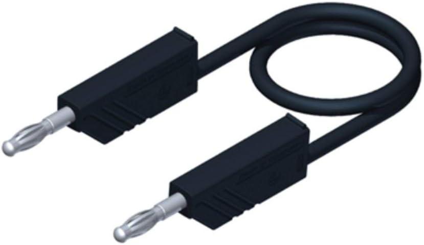 Hirschmann de Seguridad messl eitungs Juego de PMS 4/con Puntas de Prueba Cables de medici/ón L/áminas Conector 4/mm Negro//Rojo