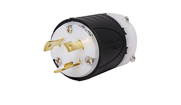 P/&S 20 Amp 125V 2P 3 Wire L5-20 Turnlok Twist Lock Plug