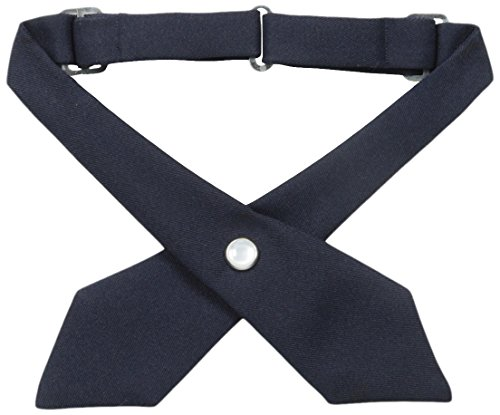 School Girl Accessories (French Toast Girls' Adjustable Cross Tie Solid, Navy, One Size)