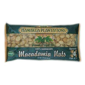 100% Hawaiian Dry Roasted Baking Macadamia Nuts 1.25 lb. Bag