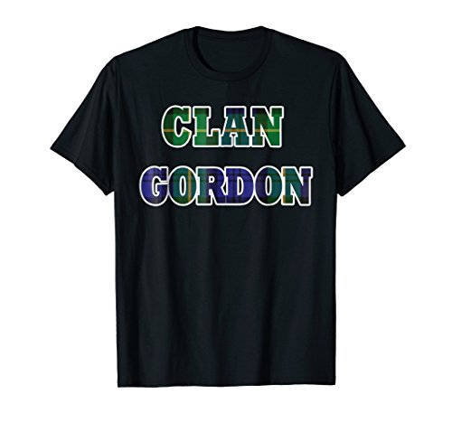 Gordon Clan Kilt Tartan T-Shirt Namesake Scotland gift Tee