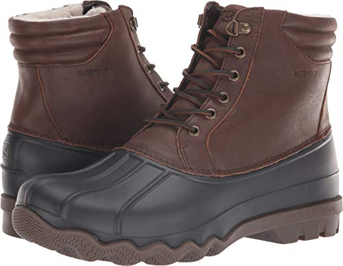 SPERRY Men's Avenue Duck Winter Snow Boot, Brown/Black, 10 M US