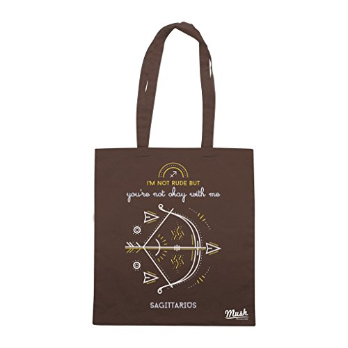 Borsa ZODIAC SAGITTARIUS - Marrone - DIVERTENTE by Mush Dress Your Style