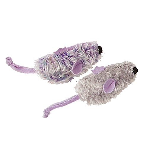 KONG Purple Mouse & Frosty Grey Mouse Catnip Toy, Cat Toy, 2/pack