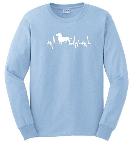escue Mom Dad Dachshund Gifts Dog Lover Heartbeat Weiner Dog Long Sleeve T-Shirt 3XL LtBlu (Dachshund Rescue)