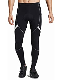 Santic Men's Cycling Bike Pants 4D Padded Long Bicycle Compression Tights Breathable Trousers …