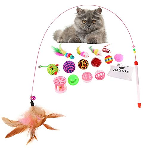 Amazon.com : Best Quality 16 pcs Soft Fleece False Mouse cat Toys Colorful Feather Funny Mini Playing Mouse Toys Gift for Cats Kitten Balls Toys : Pet ...