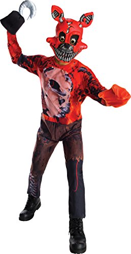 Five Nights At Freddy's Costume (Rubie's Costume Boys Five Nights At Freddy's Nightmare Foxy The Pirate Costume, Large, Multicolor)