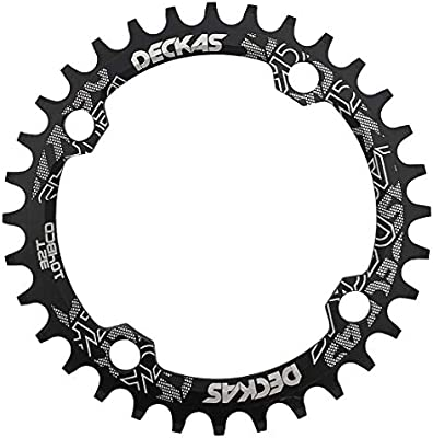 DECKAS Bike Aluminium Round Oval Chainring Chain Ring BCD 104mm 32T 34T 36T 38T