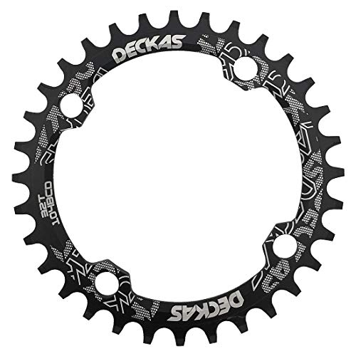 DECKAS Round Oval 104BCD 32T 34T 36T 38T Narrow Wide Chainring Single Chainring for 8/9/10/11-Speed