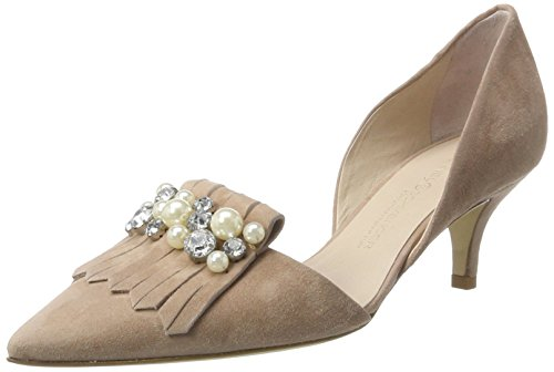 Kennel und Schmenger Schuhmanufaktur Women's Selma Closed Toe Heels Beige (Rostte/Crystal) fuyhiKgjUs